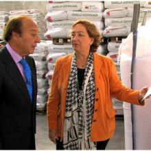La Cooperativa Agraria San Antón recibe la visita de la Consejera de Agricultura